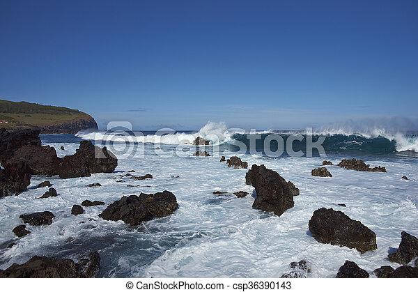 Costa de Easter Island - csp36390143