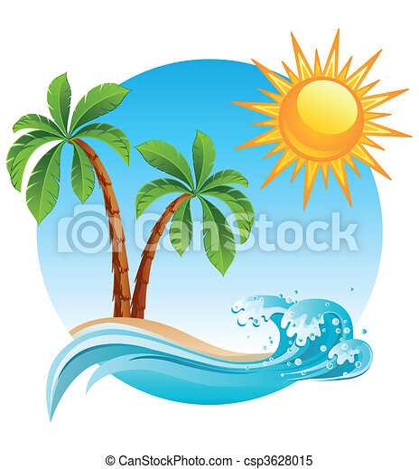La isla tropical - csp3628015