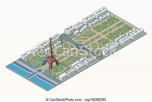 Torre de eiffel y campeón de Marte - csp16288293