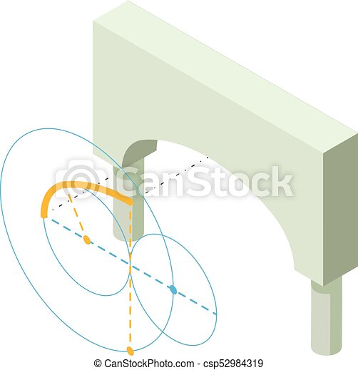 Icono Arco griego, estilo isometrico 3D - csp52984319