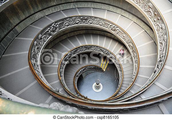 Escalera del museo vaticano en Roma, Italia - csp8165105
