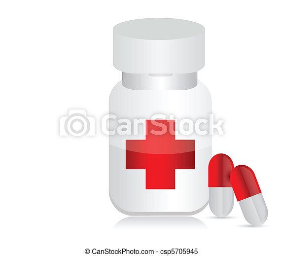 Jar para medicinas - csp5705945