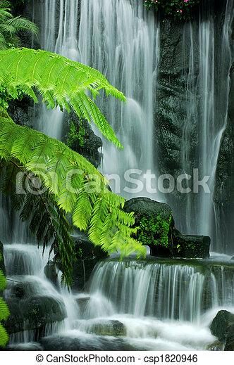 Cascadas de jardín - csp1820946
