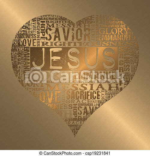 Amo a Jesús - csp19231841