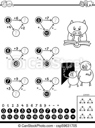 Un juego educativo para niños - csp59631705