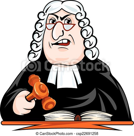 El juez dicta el veredicto - csp22691258