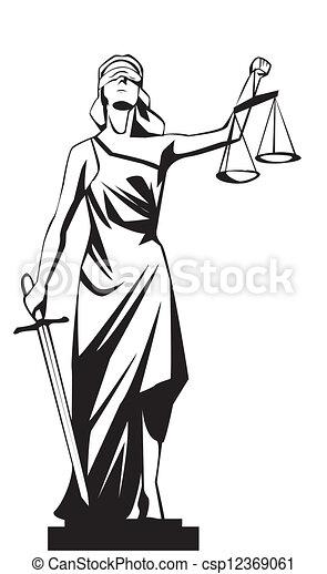 Lady Justicia - csp12369061