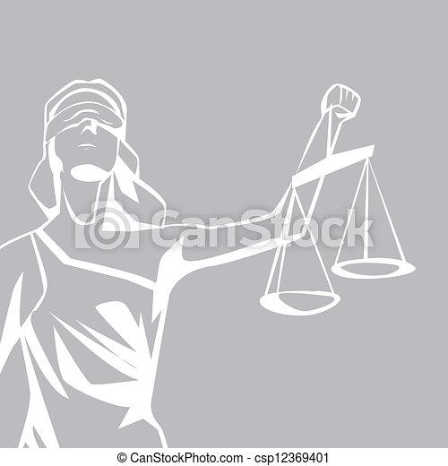 Lady Justicia - csp12369401