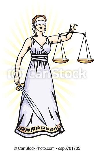 Themis, una diosa de la justicia - csp6781785