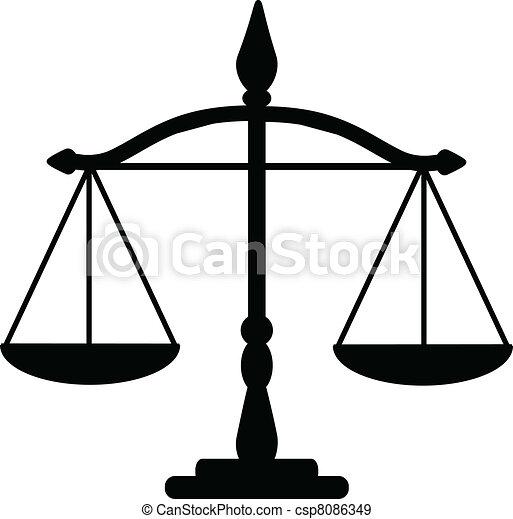 Escamas de justicia - csp8086349