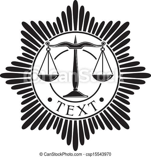 Escamas de placa de justicia - csp15543970