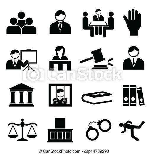 Justicia y iconos legales - csp14739290