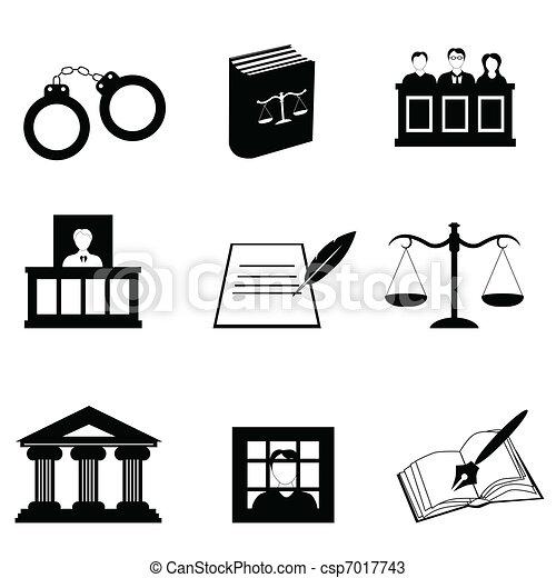 Justicia y iconos legales - csp7017743
