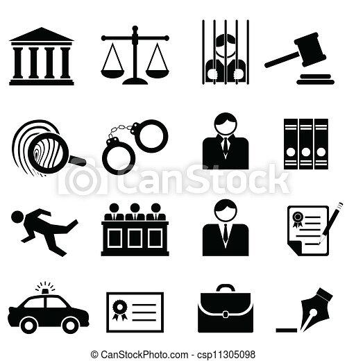 Legales, leyes y íconos de justicia - csp11305098