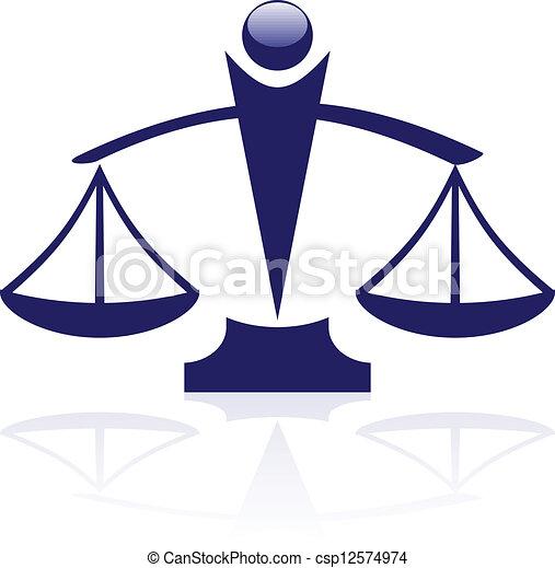 El icono del vector escamas de la justicia - csp12574974