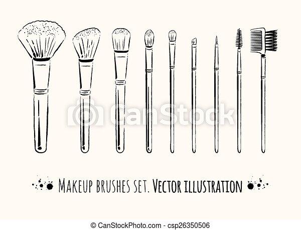 Kit de cepillos de maquillaje. - csp26350506
