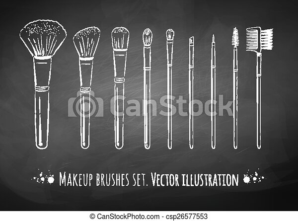 Kit de cepillos de maquillaje. - csp26577553