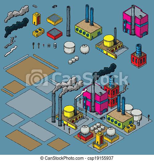 Kit de construcción de industria - csp19155937