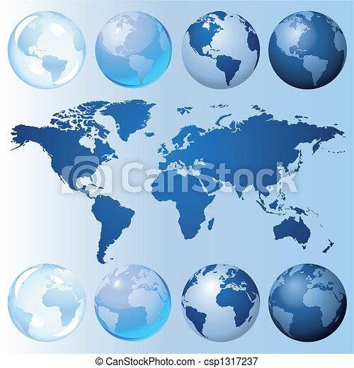 Kit de globo azul - csp1317237