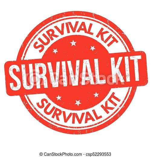 Kit de supervivencia sello de goma grunge - csp52293553
