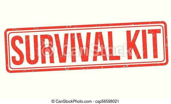 Kit de supervivencia sello de goma grunge - csp56598021