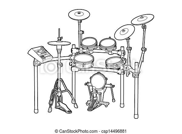 Kit de tambor - csp14496881