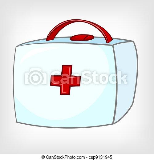 Kit médico de la casa Cartoon - csp9131945