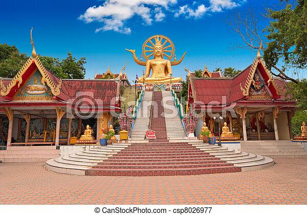 Gran estatua de Buddha en la isla Koh Samui - csp8026977