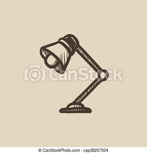 El icono de la lámpara de mesa. - csp38207504