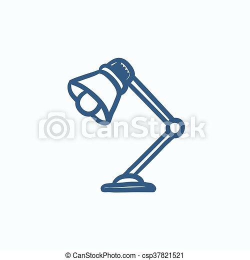El icono de la lámpara de mesa. - csp37821521