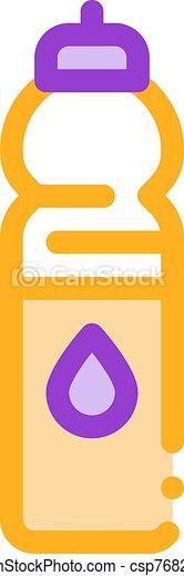 línea, delgado, agua, equipo, botella, vector, deporte, icono - csp76828638