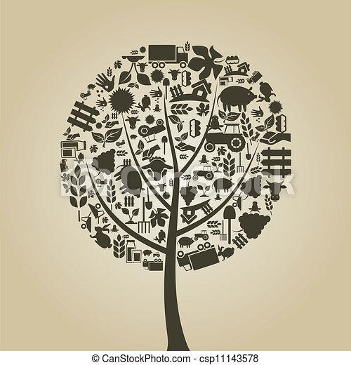 La agricultura de los árboles - csp11143578