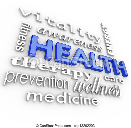 La asistencia médica collage palabras medicinas - csp13202203