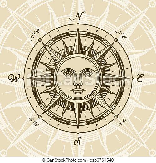 La brújula solar se levantó - csp6761540