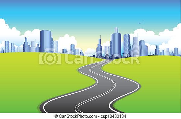 La carretera va a la ciudad - csp10430134