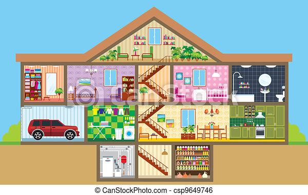La casa está cortada - csp9649746