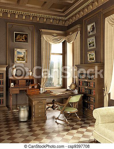 La clásica sala de estudio. - csp9397708