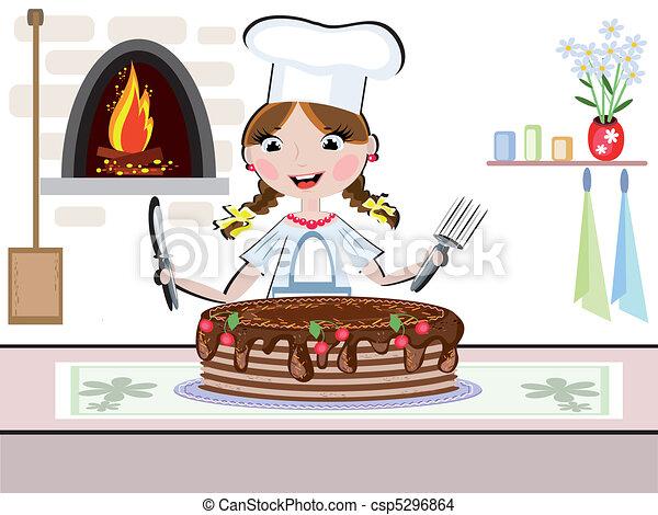 La cocinera - csp5296864