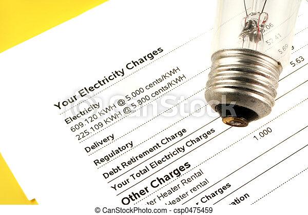 La cuenta de electricidad - csp0475459