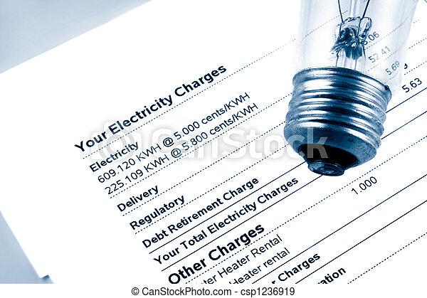 La cuenta de electricidad - csp1236919