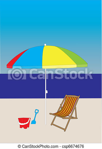La escena de la playa - csp6674676
