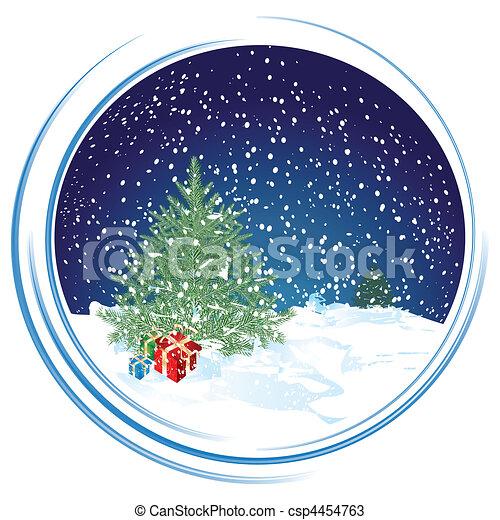 La escena de Navidad - csp4454763