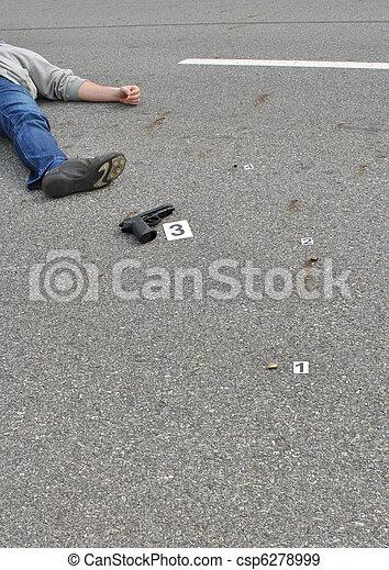 La escena del crimen - csp6278999