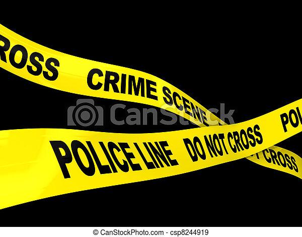 La escena del crimen - csp8244919