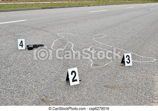 La escena del crimen - csp6279016