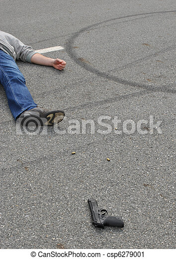 La escena del crimen - csp6279001