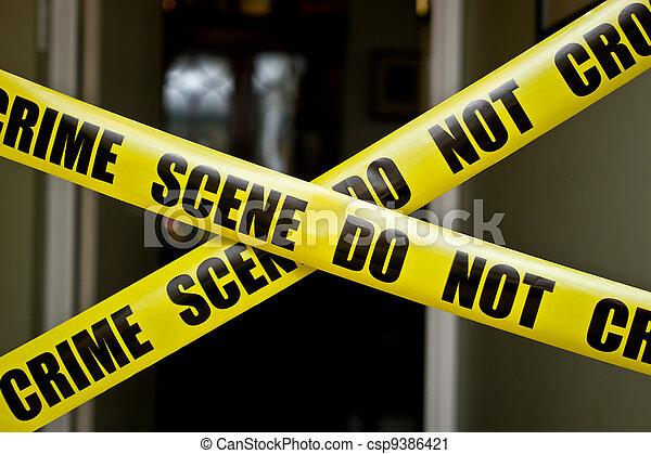 La escena del crimen - csp9386421