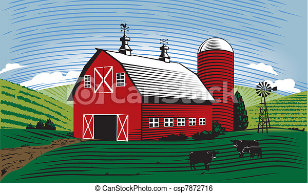 La escena del granero - csp7872716