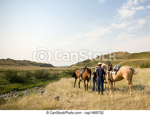 La escena del vaquero - csp1469702