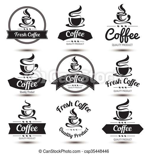 La etiqueta del café - csp35448446